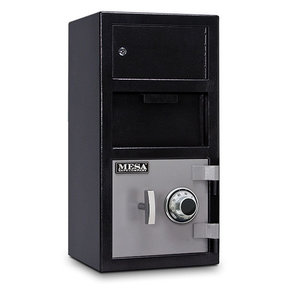 Mesa Depository Safe with Outer Locker and Combination Lock, 1.5 cu. ft., Black and Gray, Model MFL2014C-OLK