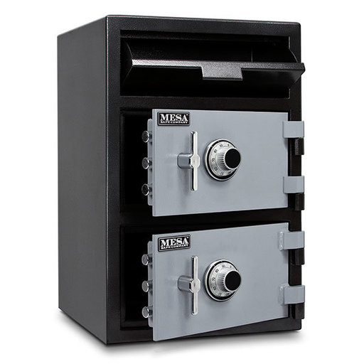 View a Larger Image of Mesa Depository Safe with Two Combination Locks, 3.6 cu. ft., Black and Gray, Model MFL3020CC