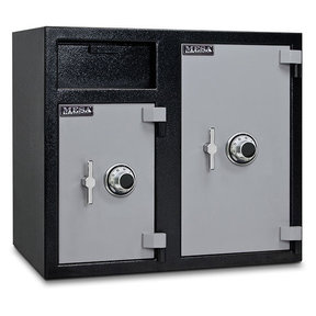 Mesa Depository Safe with Two Combination Locks, 6.7 cu. ft., Black and Gray, Model MFL2731CC