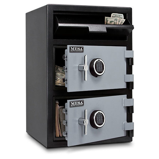 View a Larger Image of Mesa Depository Safe with Two Electronic Locks, 3.6 cu. ft., Black and Gray, Model MFL3020EE