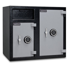 Mesa Depository Safe with Two Electronic Locks, 6.7 cu. ft., Black and Gray, Model MFL2731EE