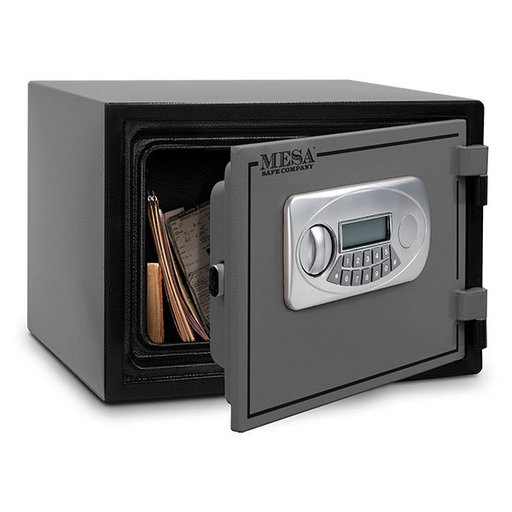 View a Larger Image of Mesa Fire Safe with Electronic Lock, 0.4 cu. ft., Black and Gray, Model MF30E