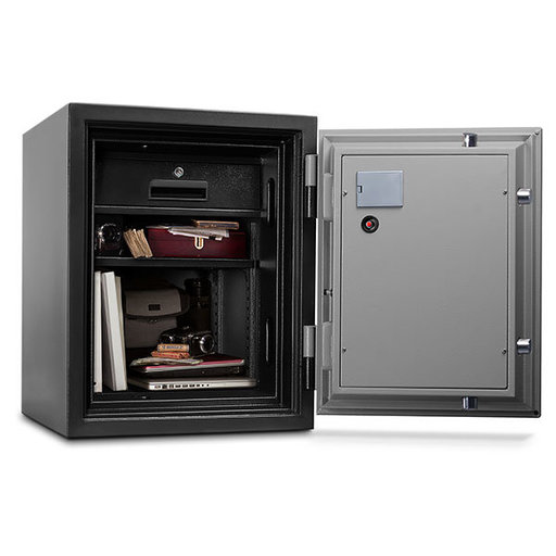 View a Larger Image of Mesa Fire Safe with Electronic Lock, 1.5 cu. ft., Black and Gray, Model MF60E
