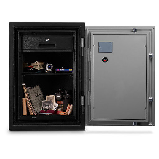 View a Larger Image of Mesa Fire Safe with Electronic Lock, 1.7 cu. ft., Black and Gray, Model MF70E