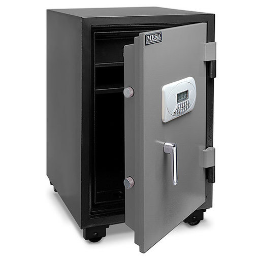 View a Larger Image of Mesa Fire Safe with Electronic Lock, 2.1 cu. ft., Black and Gray, Model MF75E