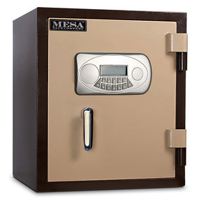 Mesa Fire Safe with Electronic Lock and Interior Light, 1.3 cu. ft., Black and Gray, Model MF53E