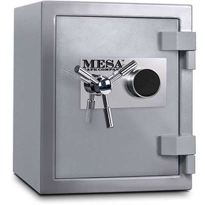 Mesa High Security Burglary Fire Safe with Combination Lock, 1.3 cu. ft., Silver, Model MSC1916C
