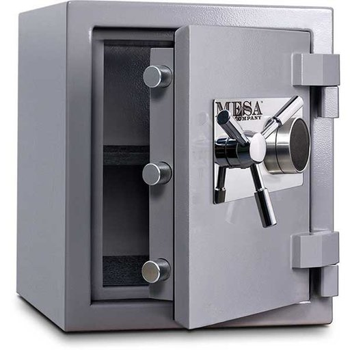 View a Larger Image of Mesa High Security Burglary Fire Safe with Combination Lock, 1.3 cu. ft., Silver, Model MSC1916C