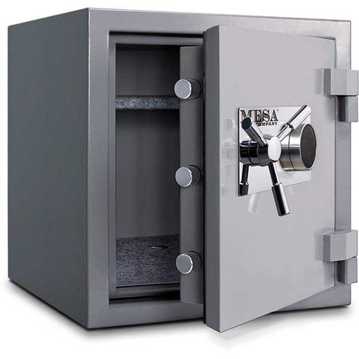 View a Larger Image of Mesa High Security Burglary Fire Safe with Combination Lock, 2.4 cu. ft., Silver, Model MSC2120C