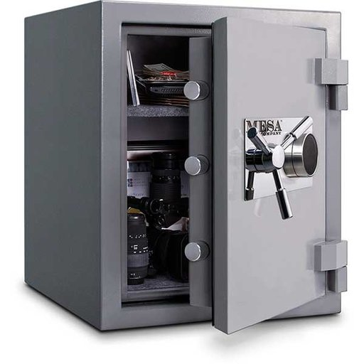 View a Larger Image of Mesa High Security Burglary Fire Safe with Combination Lock, 3.0 cu. ft., Silver, Model MSC2520C