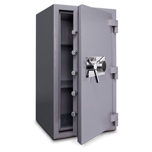View a Larger Image of Mesa High Security Burglary Fire Safe with Combination Lock, 4.4 cu. ft., Silver, Model MSC3820C