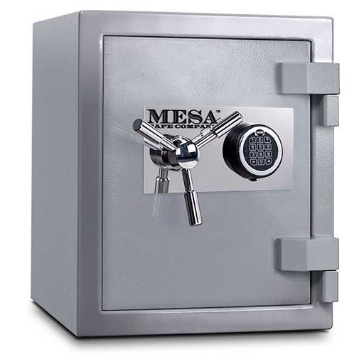 View a Larger Image of Mesa High Security Burglary Fire Safe with Electronic Lock, 1.3 cu. ft., Silver, Model MSC1916E