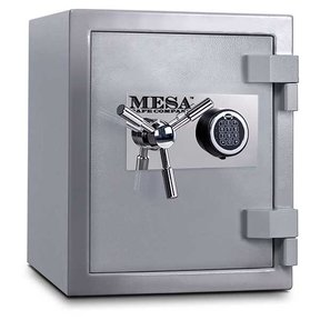 Mesa High Security Burglary Fire Safe with Electronic Lock, 1.3 cu. ft., Silver, Model MSC1916E
