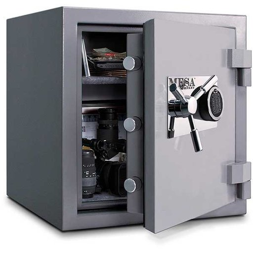 View a Larger Image of Mesa High Security Burglary Fire Safe with Electronic Lock, 2.4 cu. ft., Silver, Model MSC2120E