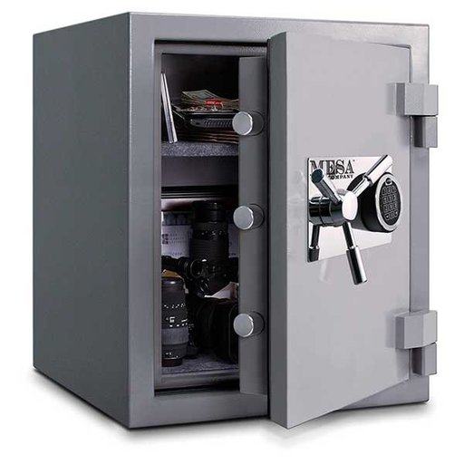 View a Larger Image of Mesa High Security Burglary Fire Safe with Electronic Lock, 3.0 cu. ft., Silver, Model MSC2520E
