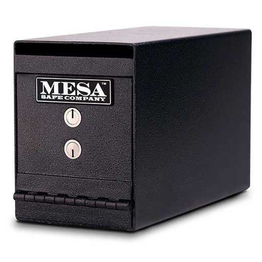 View a Larger Image of Mesa Horizontal Undercounter Depository with Dual Key Lock, 0.2 cu. ft., Hammered Grey, Model MUC2K