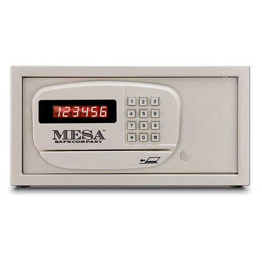 View a Larger Image of Mesa Hotel-Residential Safe with Electronic Lock, 0.4 cu. ft., Cream, Model MH101E