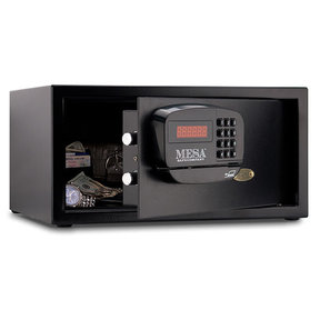 Mesa Hotel Safe with Electronic Lock,  1.2 cu. ft., Black, Model MHRC916E-BLK