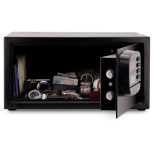 View a Larger Image of Mesa Hotel Safe with Electronic Lock,  1.2 cu. ft., Black, Model MHRC916E-BLK