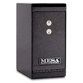 Mesa Vertical Undercounter Depository with Dual Key Lock, 0.2 cu. ft., Hammered Grey, Model MUC1K