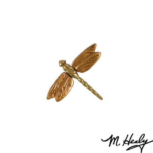 View a Larger Image of Micahel Healy Designs Dragonfly in Flight Door Bell Ringer, Polished Brass and Bronze