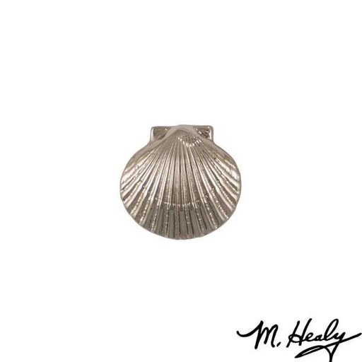 View a Larger Image of Bay Scallop Door Bell Ringer, Brushed and Polished Nickel