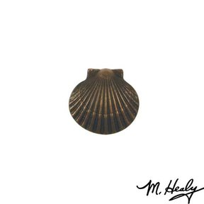 Bay Scallop Door Bell Ringer, Oiled Bronze