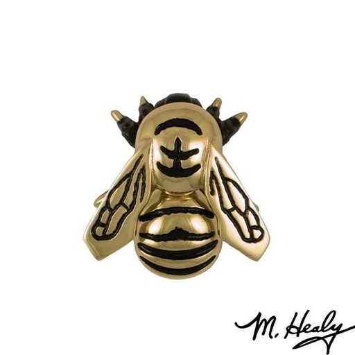 View a Larger Image of Bumblebee Door Knocker, Polished Brass