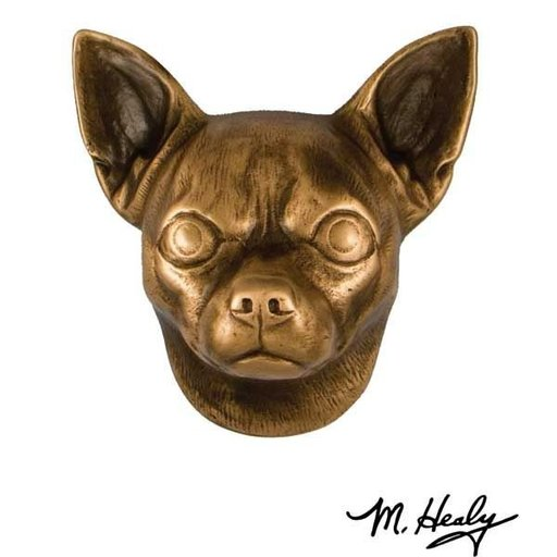 View a Larger Image of Dog Knockers Chihuahua Door Knocker, Bronze