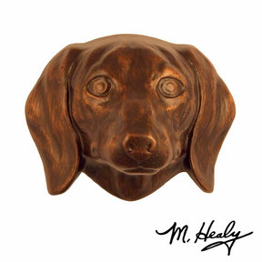 Dog Knockers Dachshund Door Knocker, Bronze