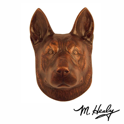 View a Larger Image of Dog Knockers German Shepherd Door Knocker, Bronze