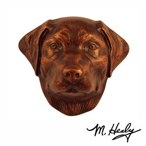 Dog Knockers Labrador Retriever Door Knocker, Bronze