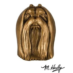 Dog Knockers Maltese Door Knocker, Bronze