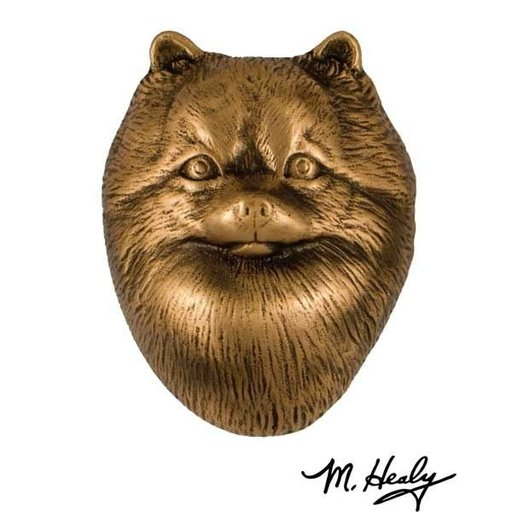 View a Larger Image of Dog Knockers Pomeranian Door Knocker, Bronze
