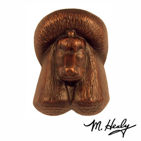 Dog Knockers Poodle Door Knocker, Bronze