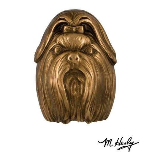 View a Larger Image of Dog Knockers Shih Tzu Door Knocker, Bronze
