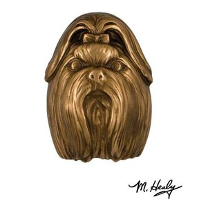 Dog Knockers Shih Tzu Door Knocker, Bronze