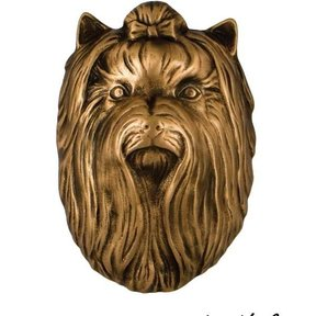 Dog Knockers Yorkshire Terrier Door Knocker, Bronze