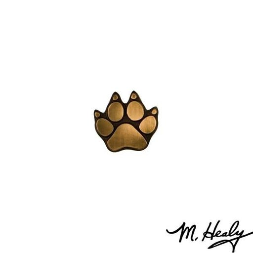 View a Larger Image of Dog Paw Door Bell Ringer, Bronze