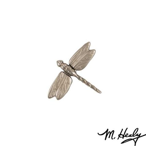 View a Larger Image of Dragonfly in Flight Door Bell Ringer, Brushed and Polished Nickel Silver