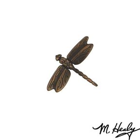 Dragonfly in Flight Door Bell Ringer, Oiled Bronze