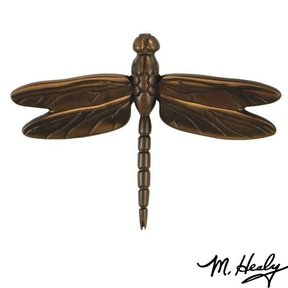 Dragonfly in Flight Door Knocker, Oiled Bronze
