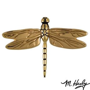 Dragonfly in Flight Door Knocker, Polished Brass and Bronze