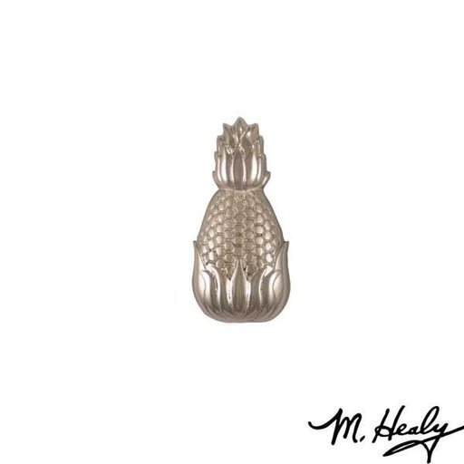 View a Larger Image of Hospitality Pineapple Door Bell Ringer, Brushed and Polished Nickel Silver