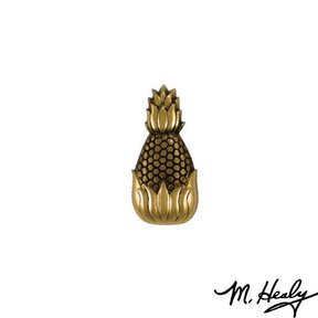 Hospitality Pineapple Door Bell Ringer, Polished and Highlighted Brass
