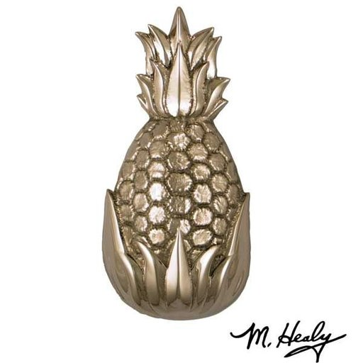 View a Larger Image of Hospitality Pineapple Door Knocker, Brushed and Polished Nickel Silver