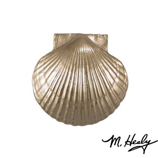 View a Larger Image of It's My Door Bay Scallop Door Knocker, Brushed and Polished Nickel Silver