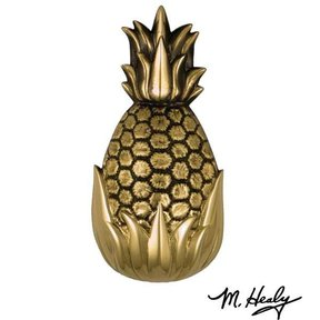 It's My Door! Hospitality Pineapple Door Knocker, Polished and Highlighted Brass