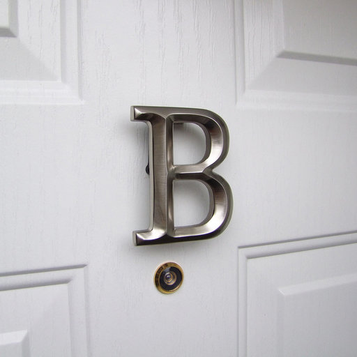 View a Larger Image of Letter B Monogram Door Knocker , Brushed Nickel