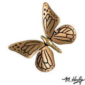 Monarch Butterfly Door Knocker, Polished Brass and Satin Bronze